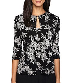 Alex Evenings® Twin-Set Blouse