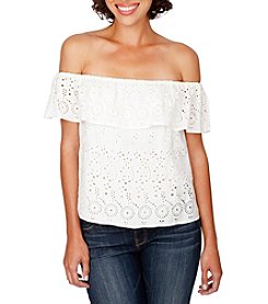 Lucky Brand® Eyelet Off-Shoulder Top