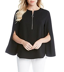 Karen Kane® Zip Up Blouse