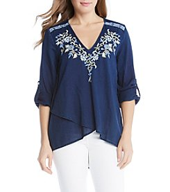Karen Kane® Embroidered Blouse