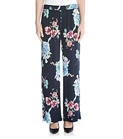 Karen Kane® Rose Printed Pants