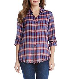 Karen Kane® Fringe Buttonup Shirt