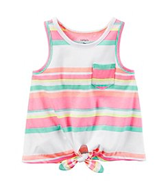 Carter's® Girls' 2T-8 Striped Tie Front Tank Top