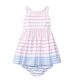 Ralph Lauren® Baby Girls' Oxford Striped Dress