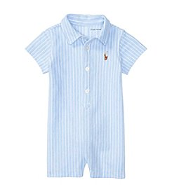 Ralph Lauren® Baby Boys Oxford Mesh One Piece Shortalls