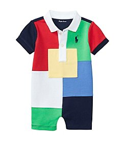 Ralph Lauren® Baby Boys Patchwork One Piece Shortalls