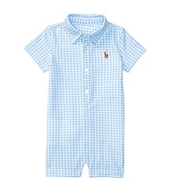 Ralph Lauren® Baby Boys Gingham Mesh One Piece Shortalls