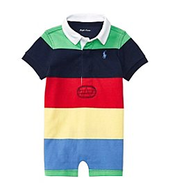 Ralph Lauren® Baby Boys Rugby Striped One Piece Shortalls