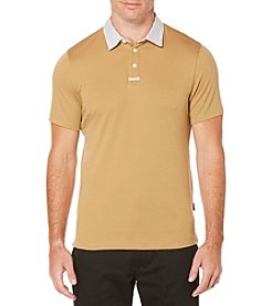Perry Ellis® Men's Solid Polo With Contrast Collar
