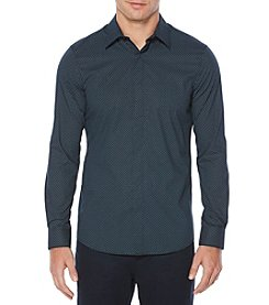 Perry Ellis® Men's Long Sleeve Slim Mini Dot Print Shirt