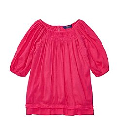 Polo Ralph Lauren® Girls' 7-16 Smocked Top