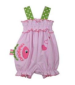 Bonnie Jean® Baby Girls' Gingham Fish Romper