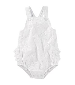 OshKosh B'Gosh® Baby Girls' Eyelet Ruffle Back Sunsuit