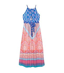 Amy Byer Girls' 7-16 Printed Maxi Dress