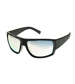 Paradise Collection® Rubberized Black Wrap With Gold Lens Sunglasses