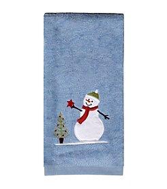 Saturday Knight, Ltd.® Snowman With Star Hand Towel