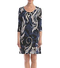 Karen Kane® Paisley Printed A-line Dress