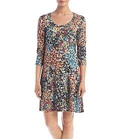 Karen Kane® Floral Printed A-line Dress