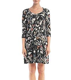 Karen Kane® Butterfly Printed A-line Dress