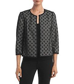 Kasper® Lace Open Front Jacket