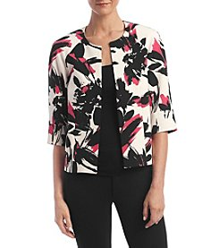 Kasper® Open Front Abstract Jacket