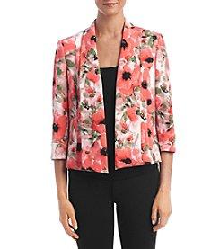 Kasper® Printed Dahlia Jacket