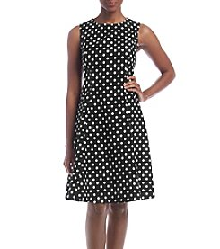 Kasper® Dot Printed Dress