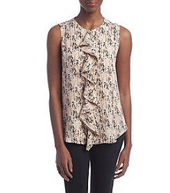 Tommy Hilfiger® Printed Ruffle Blouse