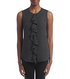 Tommy Hilfiger® Ruffled Dot Print Blouse