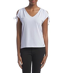 Ivanka Trump® Cold Shoulder Top