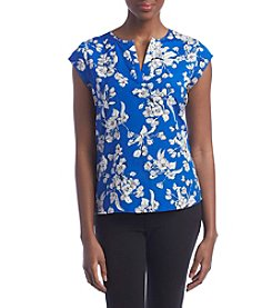Ivanka Trump® Floral Printed Woven Top