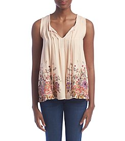 Penelope Rose™ Pin Tuck Printed Tank