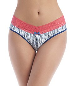 Relativity® Chevron Brushstroke Bikini Panties