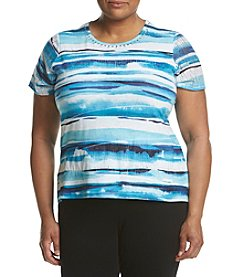 Alfred Dunner® Plus Size Brushstroke Print Top
