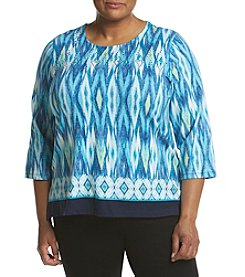 Alfred Dunner® Plus Size Scenic Print Top