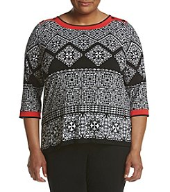 Alfred Dunner® Plus Size Tile Printed Tunic