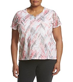 Alfred Dunner® Plus Size Rose Floral Lace Top