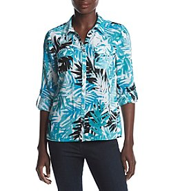 Studio Works® Petites' Tropical Printed Blouse