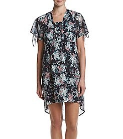 Relativity® Floral High Low Cold Shoulder Dress