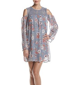 Be Bop Cold-Shoulder Floral Dress