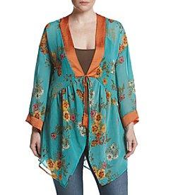 Skylar & Jade™ Plus Size Floral Kimono