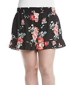 Living Doll® Plus Size Floral Ruffle Hem Shorts