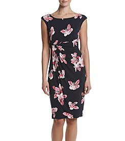 Connected® Floral Side Twist Dress