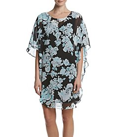 Connected® Floral Overlay Dress