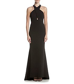 Calvin Klein Cross Neck Long Gown