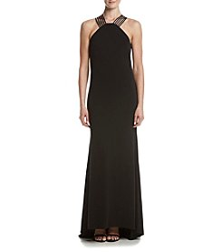 Calvin Klein Long Crepe Dress