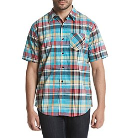 Weatherproof® Men's Madras Plaid Short Sleeve Shirt