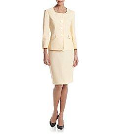 LeSuit® Four-Button Skirt Suit