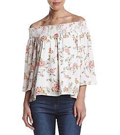 Penelope Rose™ Floral Cold Shoulder Top