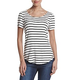Calvin Klein Striped V-neck Tee